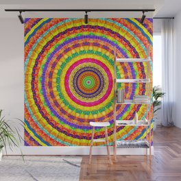 Batik Bullseye Wall Mural