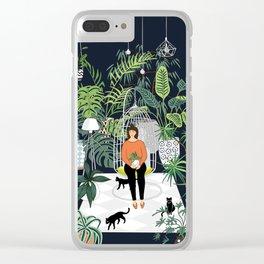 dark room print Clear iPhone Case