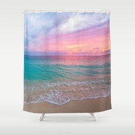 Aerial Photography Beautiful: Turquoise Sunset Relaxing, Peaceful, Coastal Seashore Shower Curtain
