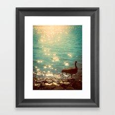 Showering in Sparkling Sunshine Framed Art Print