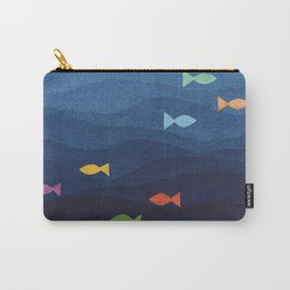 Coloured fish say hooray Carry-All Pouch
