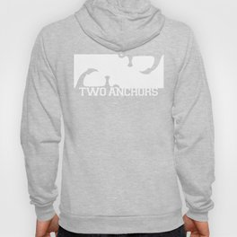 Double Anchor in White Hoody