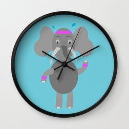 Fitness Elephant Wall Clock