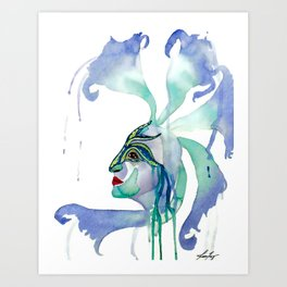 The Goddess of Mardi Gras and Celebration  Art Print