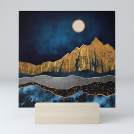 Midnight Desert Moon Mini Art Print
