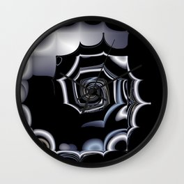 TGS Fractal Abstract in Winter Wall Clock