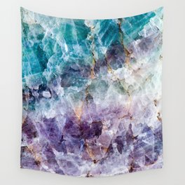 Turquoise & Purple Quartz Crystal Wall Tapestry