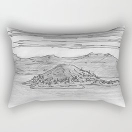 The Island is Growing Rectangular Pillow