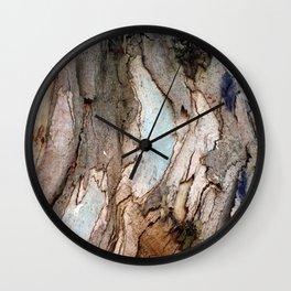 Eucalyptus Tree Bark 8 Wall Clock
