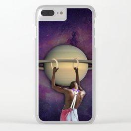 S A T U R N Clear iPhone Case