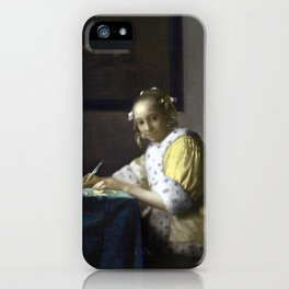 Johannes Vermeer A Lady Writing iPhone Case