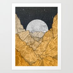 Copper Mounts Art Print