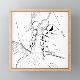 FootJob Framed Mini Art Print