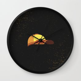 Minimal Retro Cricket Hat Wall Clock