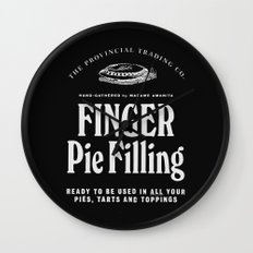 Finger Pie Filling Wall Clock