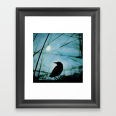 The Raven and the Orb Framed Art Print