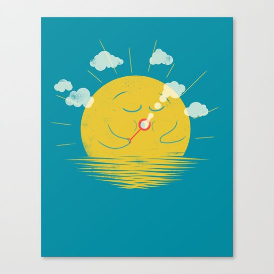 Partly Cloudy Canvas Print