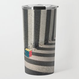Rubik shading stripes Travel Mug