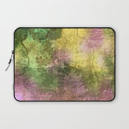 Snail trails on colorful bark Laptop Sleeve