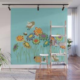 Colorful Gerber Daisy Flower Field Wall Mural
