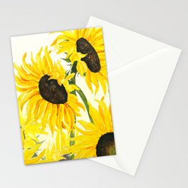 sunflower watercolor 2017 Stationery Cards