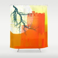 castle Shower Curtains featuring Castle by Superlust