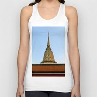 thailand Tank Tops featuring temple in thailand by habish