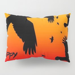 Happy Halloween Murder of Crows  Pillow Sham