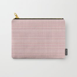 Decorative Pink White Fine Lines Design Carry-All Pouch