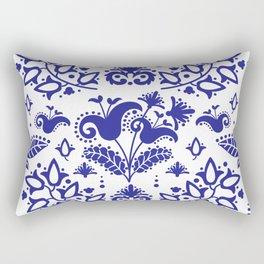 ETHNIC TATAR BLUE Ornament Seamless Pattern Vector Illustration Rectangular Pillow