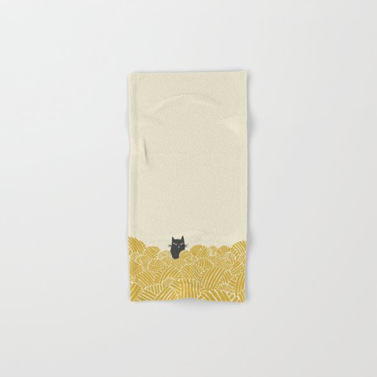Cat and Yarn Hand & Bath Towel