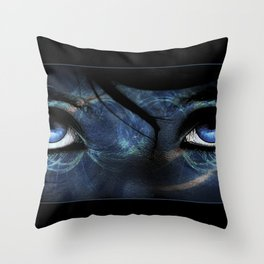 Behind Her Eyes Throw Pillow