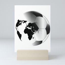 Earth Football Mini Art Print