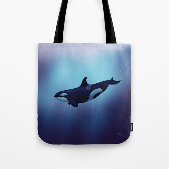 Lost in Fantasy ~ Orca ~ Killer Whale Art by Amber Marine Tote Bag