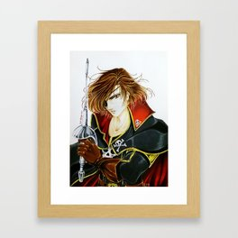Captain Harlock, by Suki Manga Art Framed Art Print