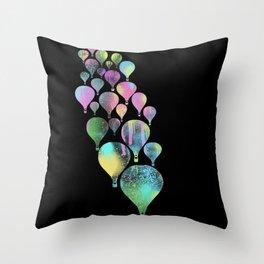 Hot Air Colors Throw Pillow