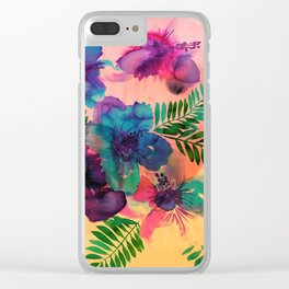 Skye Floral Clear iPhone Case