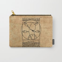 Vitruvian Gerbil Carry-All Pouch