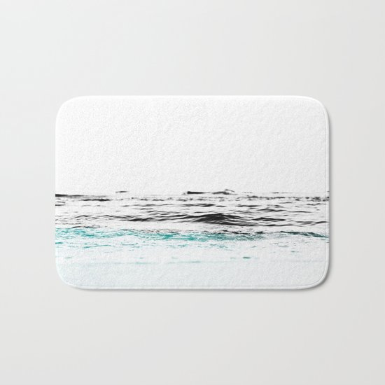 Minimalist ocean waves Bath Mat