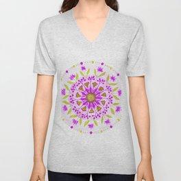 Floral Grove Mandala Unisex V-Neck
