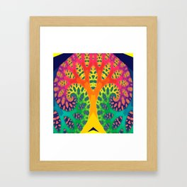 A Tree Dreaming In Color Framed Art Print