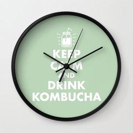 Keep Calm and Drink Kombucha Wall Clock