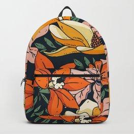 Night Forest, Colorful Dark Eclectic Floral Nature Botanical Jungle Floral Bohemian Illustration Backpack
