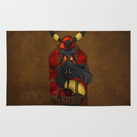 """umbreon Area & Throw Rugs featuring Rule 63: Umbreon by Barbora """"Mad Alice"""" Urbankova"""