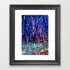 Blue Reeds Red River Framed Art Print