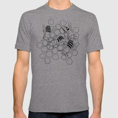 The Busy Bees Mens Fitted Tee LARGE Tri-Grey