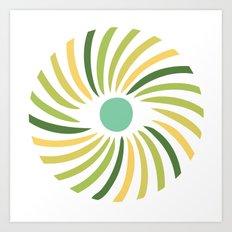 Retro radial eye design Art Print