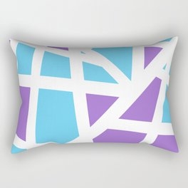 Abstract Interstate  Roadways Aqua Blue & Violet Color Rectangular Pillow