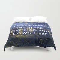 lorde Duvet Covers featuring I Never Watch the Starry Night by Lorde Art History