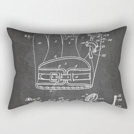 Baseball Glove Patent - Baseball Art - Black Chalkboard Rectangular Pillow